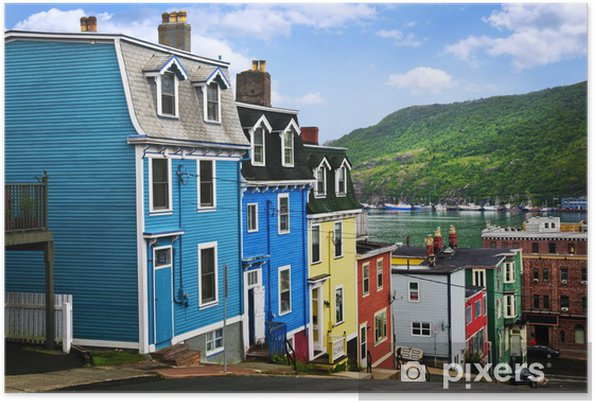 Plakat Kolorowe domy w st. john - Infrastruktura