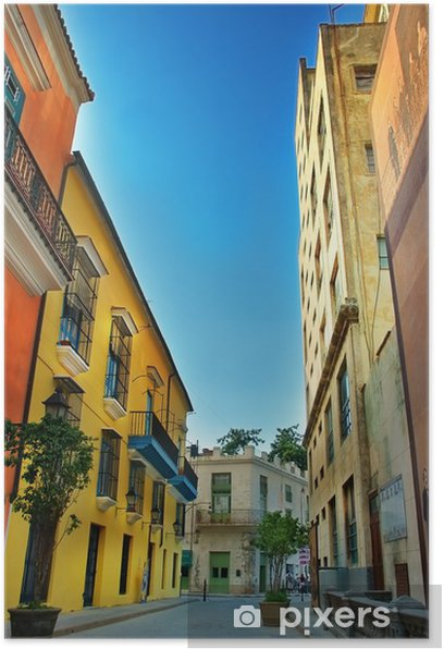 Plakat Kolorowe fasady Havana City - Tematy