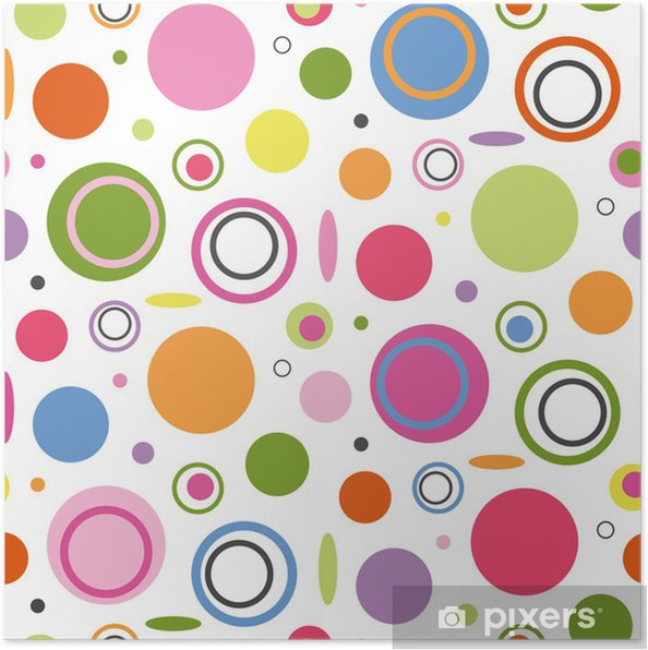 Plakat Kolorowe koła wzór - Style