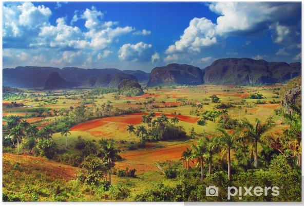 Plakat Kolorowe krajobraz wiejski -