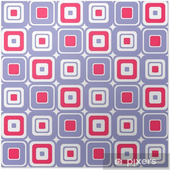 Plakat Kolorowe kwadraty abstrakcyjne bez szwu - Tła