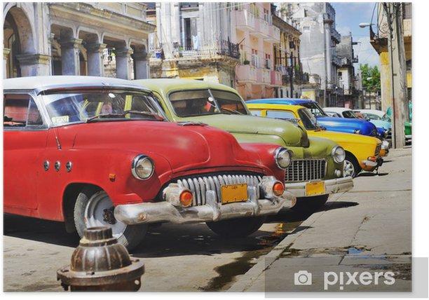Plakat Kolorowe samochody Hawana - Przeznaczenia