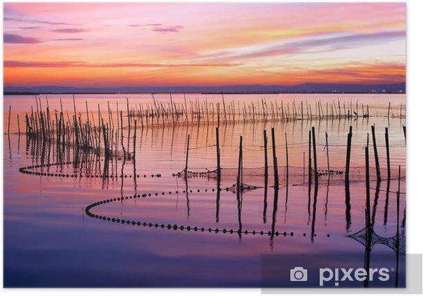 Plakat Kolorowy zachód słońca - Cuda natury