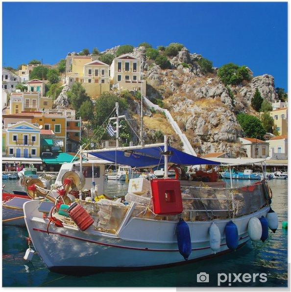 Plakat Kolory Grecji serii - Wyspa Simi - Tematy