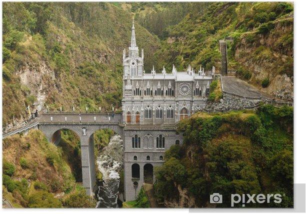 Plakat Kolumbia, Sanktuarium Matki Bożej z Las Lajas - Ameryka