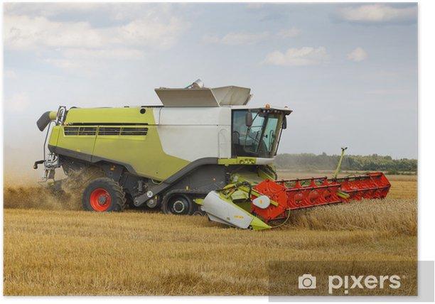 Plakat Kombajn zbożowy - Rolnictwo