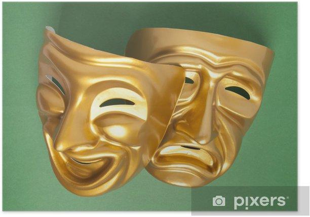 Plakat Komedii i tragedii maski teatralne - Rozrywka