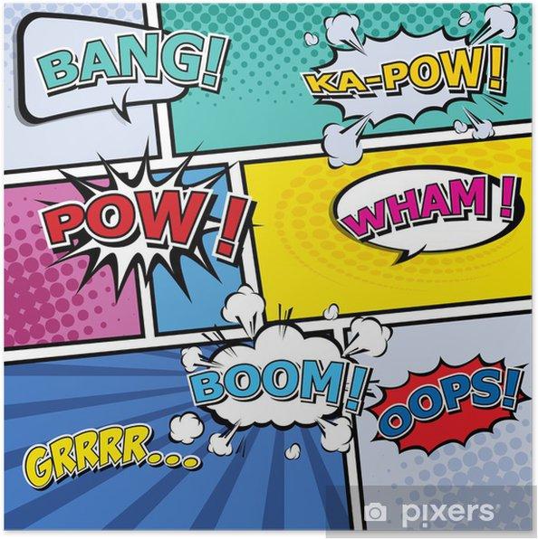Plakat Komiks szablon Pop-Art - Tematy