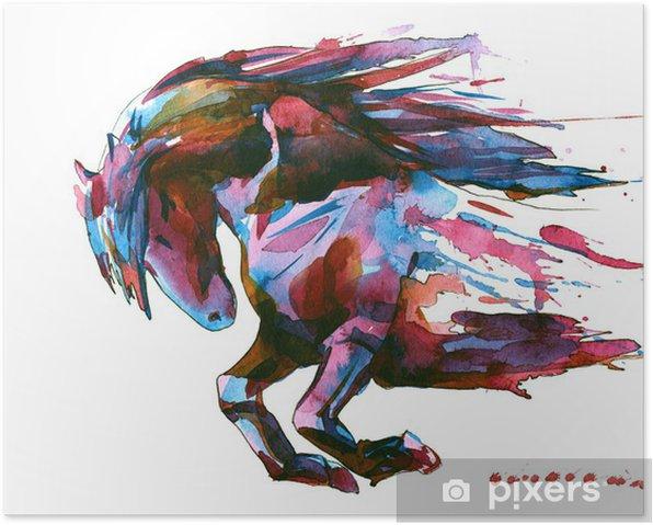 Plakat Koń - Naklejki na ścianę