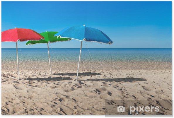 Plakat Koncepcja parasol rgb - Wakacje