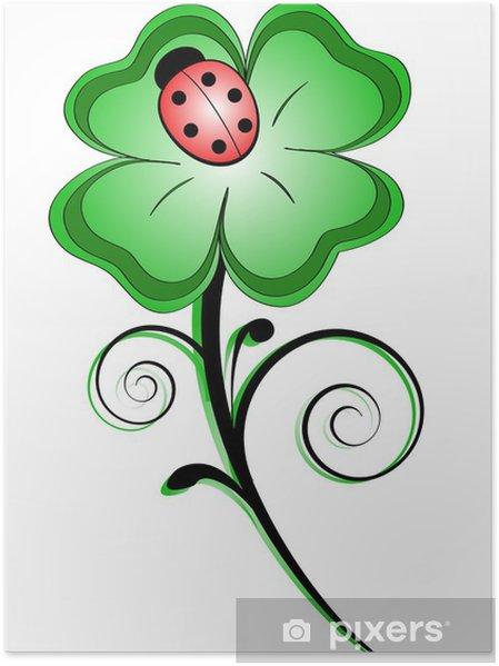 Plakat Koniczyna kolorowe - Rośliny