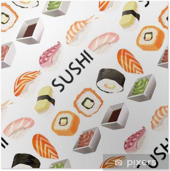 Plakat Konstrukcja Sushi tła. - Zasoby graficzne