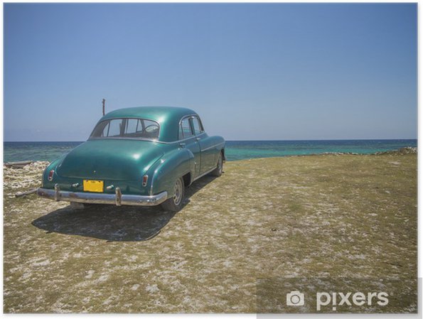 Plakat Kontemplując plaży - Kuba