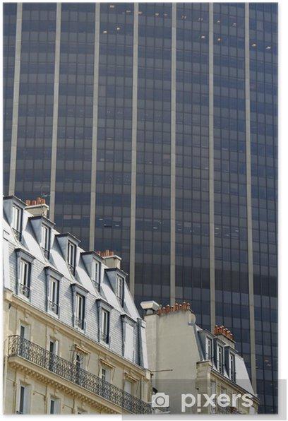 Plakat Kontrastujących stylów architektonicznych, paris - Europa