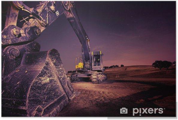 Plakat Koparka - Przemysł ciężki