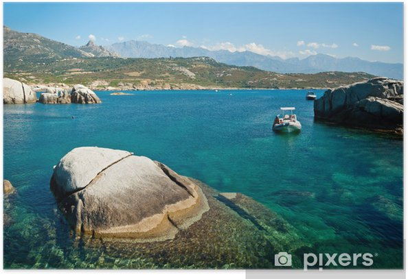 Plakat Korsyka wody - Europa