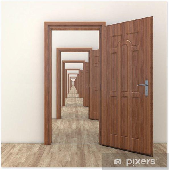 Plakat Korytarz Otwarte Drzwi