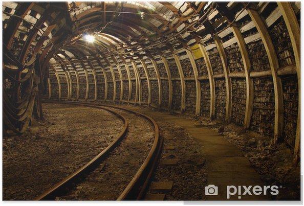 Plakat Korytarz podziemnej kopalni - Tematy
