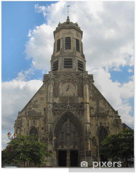 Plakat Kościół Honfleur - Budynki użyteczności publicznej