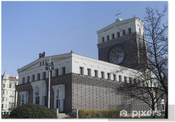 Plakat Kościół Najświętszego Serca Pana Jezusa w Pradze - Miasta europejskie