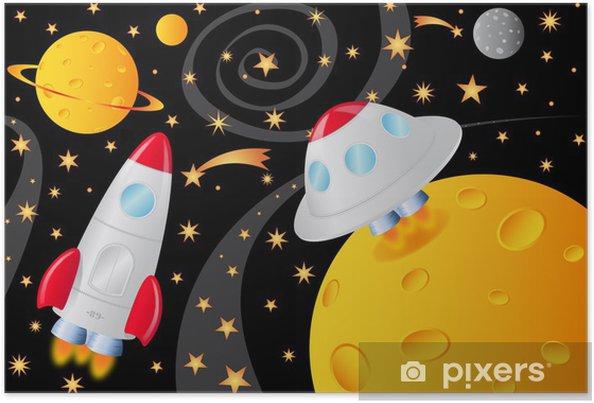 Plakat Kosmiczne we Wszechświecie - Przestrzeń kosmiczna
