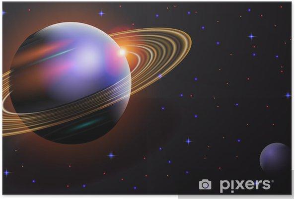 Plakat Kosmiczny krajobraz - Przestrzeń kosmiczna