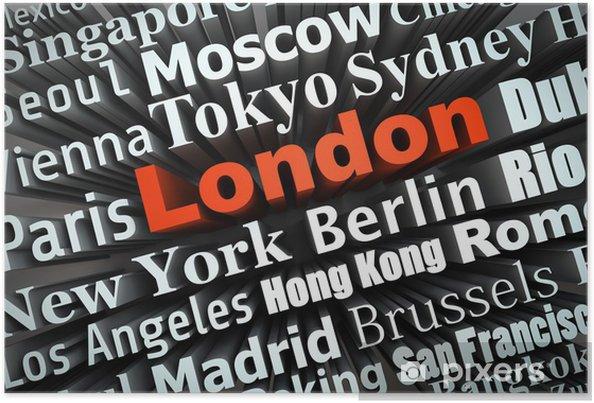 Plakát Kosmopolitní město Londýn - Evropská města