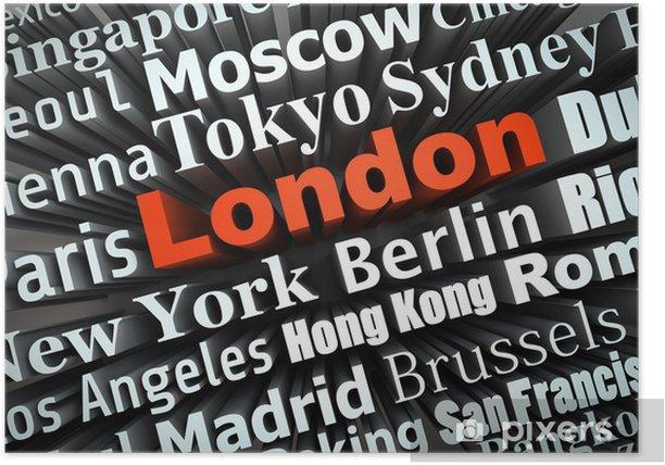 Plakat Kosmopolityczne miasto z Londynu - Miasta europejskie