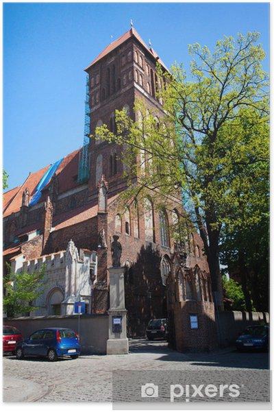 Plakát Kostel sv. Jacob -monument v polské Toruni - Evropa