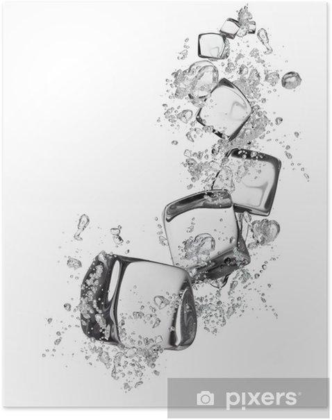 Plakat Kostki lodu na białym tle - Posiłki