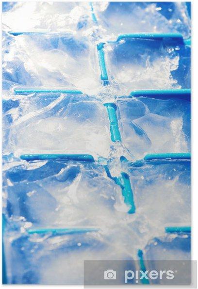 Plakat Kostki lodu - Tekstury