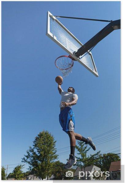 Plakat Koszykarz Dunking - Koszykówka