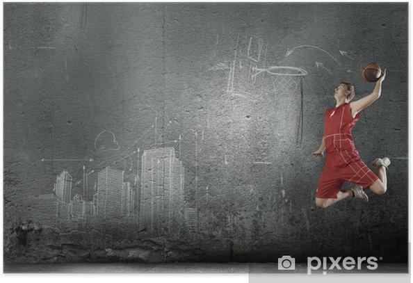 Plakat Koszykarz - Koszykówka