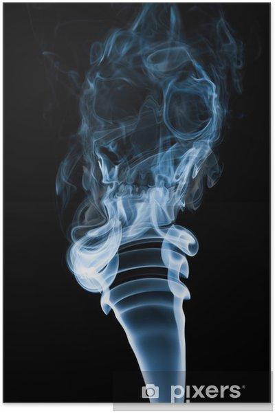 Plakát Kouř ve tvaru lebky. Pro anti-kouření nebo plicní rakoviny campain - Témata