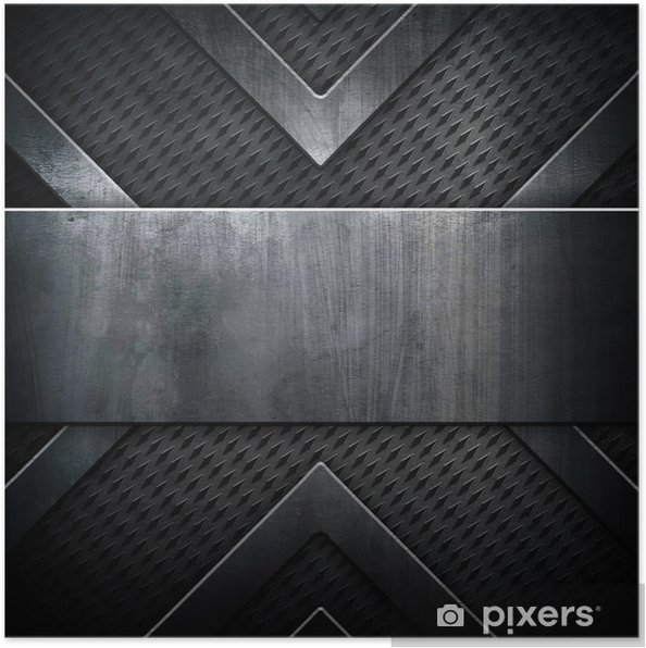 Plakát Kovová deska se vzorem X - Struktury