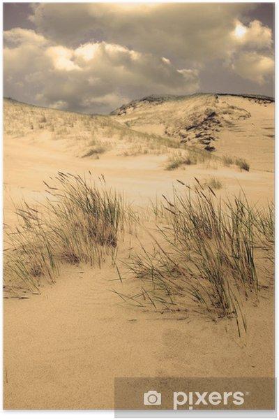 Plakat Krajobraz Dune w Kursiu Nerija National Park, na Litwie - Wakacje