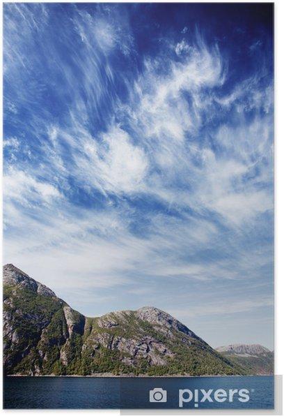 Plakat Krajobraz fiordów Norwegii - Europa