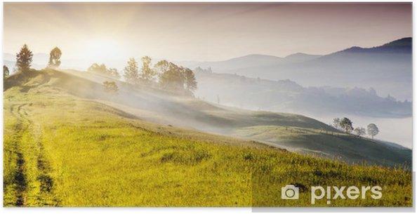 Plakat Krajobraz gór - Pory roku