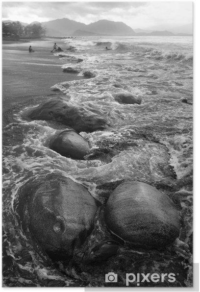 Plakat Krajobraz kamień - Woda
