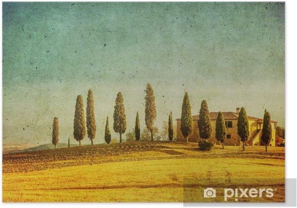 Plakat Krajobraz toskański rocznika - Tematy