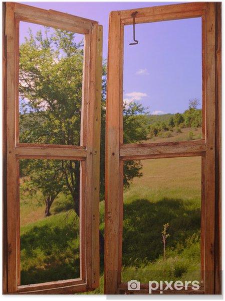 Plakat Krajobraz, widok przez okno - Tematy
