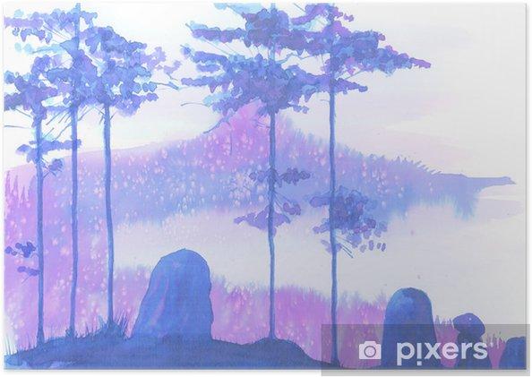 Plakat Krajobraz - Rośliny