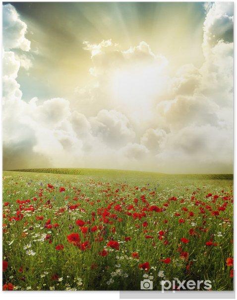 Plakat Krajobraz - Krajobraz wiejski