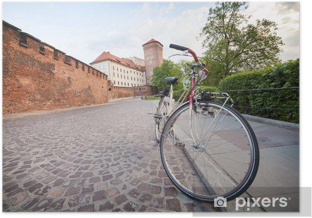 Plakat Kraków na rowerze - Europa