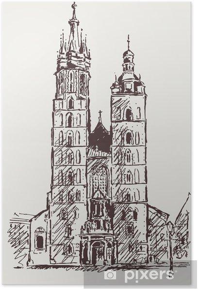 Plakát Kraków Rynek - Evropa