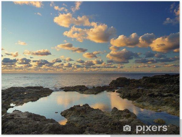 Plakát Krásná krajina při západu slunce. - Prázdniny