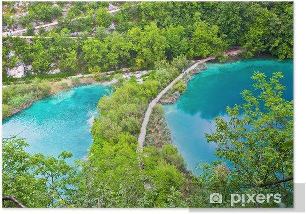 """Plakát Krásná příroda v """"Plitvická jezera"""" National Park, Chorvatsko. - Témata"""