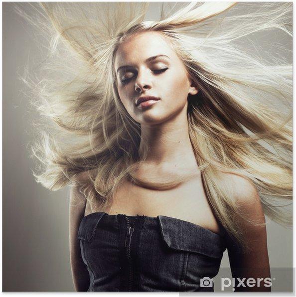 Plakát Krásná žena s nádherným vlasy - Životní styl, péče o tělo a krása