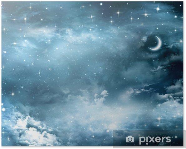 Plakát Krásné pozadí, noční obloha - Témata