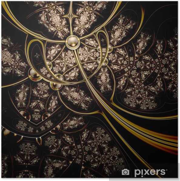 Plakát Krásné zlaté pozadí vypadá jako kovové tkaniny - Abstraktní